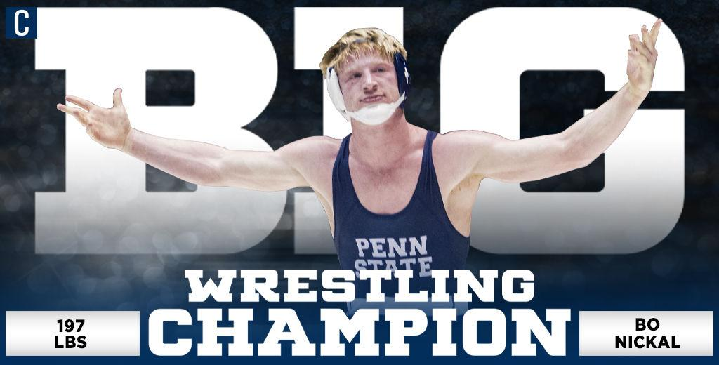 Penn State wrestling's Bo Nickal picks up third Big Ten title in continued dominance at 197 pounds